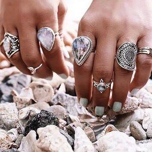 💕Bohemian 7 piece ring set